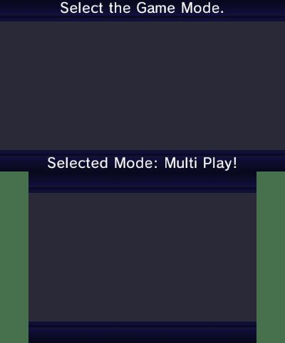 Game mode select