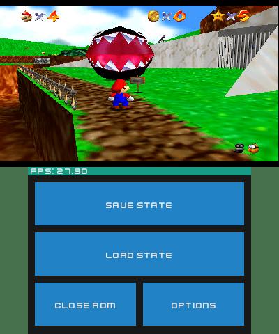 Touch screen menu