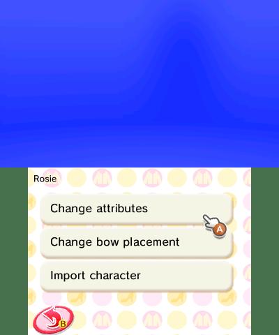 Character change menu