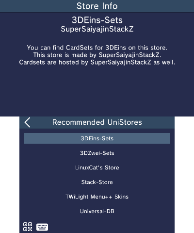 Recommended unistores